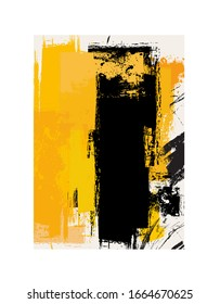 Abstract background in yellow and black - vector illustration  (Ideal for printing on fabric or paper, poster or wallpaper, house decoration)