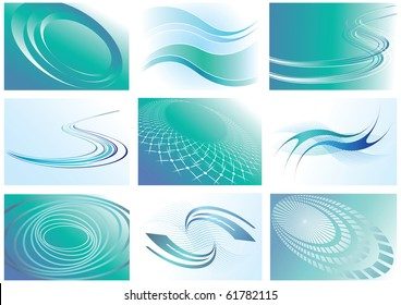 Abstract backgrounds set. Vector editable illustration.