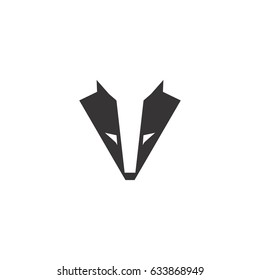 abstract badger logo