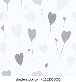 Abstract balloons seamless pattern background