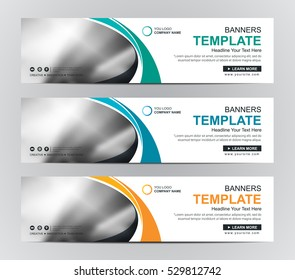 Abstract banner design background, vector website headers