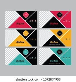 Abstract Banner Design. Facebook cover. Sale Posters. Banner set. Gift crd, voucher. Web banner. Brochure template. Vector illustration