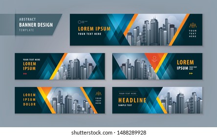 Abstract banner design web template, Horizontal header web banner. Modern Geometric Black and red Triangle cover header background for website design, Social Media Cover ads banner, invitation card