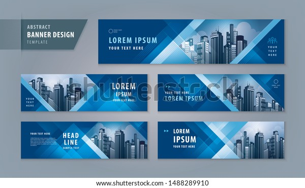 Abstract Banner Design Web Template Set Stock Vector Royalty Free 1488289910