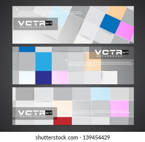 Abstract Banner - eps10 Background