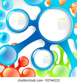 Abstract banner with forms of colorful blots for your modern design.