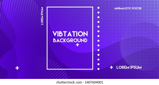Abstract banner with gradient shapes and blur background with dark neon color. Dynamic shape composition. Vector template design - Vector