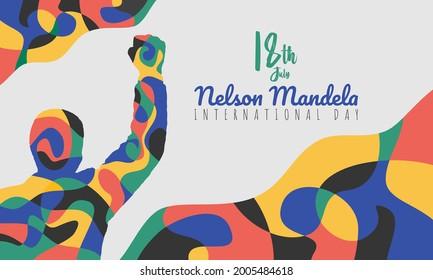 Abstract Banner Illustration of Nelson Mandela International Day Vector