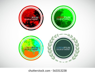Abstract Banner, Insignia,Logo,Icon,Label or Badge. Modern Creative Element for your design. Vector illustration.