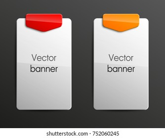 abstract banner set. The rectangle form as two advertising banner poster. The flat banner with rounded corners image. Advertising Design shape. label banner tag.
