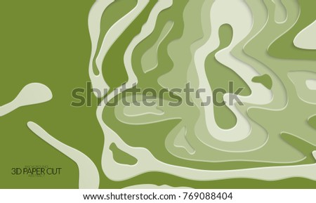 abstract banner template 3 d paper cut stock vector royalty free