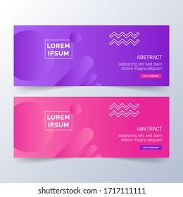 Abstract Banner Template Design. Horizontal header, web banner. Social Media Cover, poster. Vector abstract geometric design banner web template. Vector illustration
