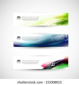 Abstract banner template, Vector illustration