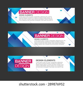 Abstract banner triangle line design . For bussines, danceparty, promotion. Web and print. Vector template