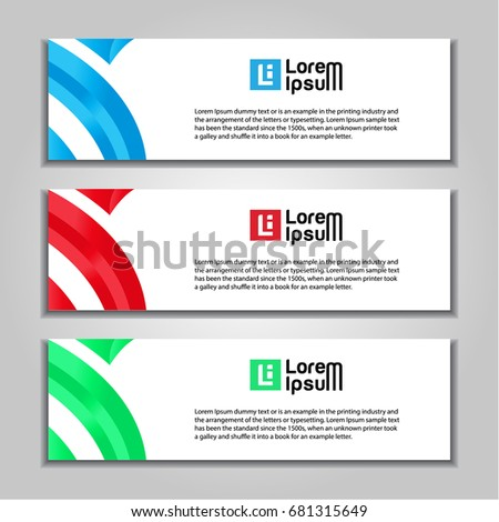 abstract banner website background template stock vector royalty