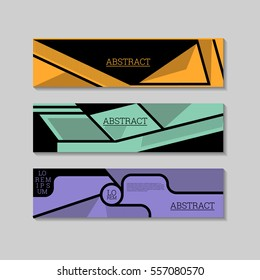 Abstract banners design template. Can be used as Infographics, numbered banners, steps, tutorial, workflow diagrams. Illustration, Vector eps10.