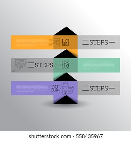 Abstract banners design template. Can be used as numbered banners, steps, tutorial, workflow diagrams. Illustration, Vector eps10.