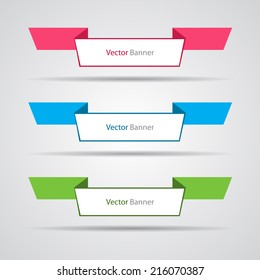Abstract banners, eps10 vector.