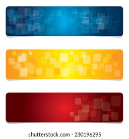 Abstract Banners. Vector Backgrounds.