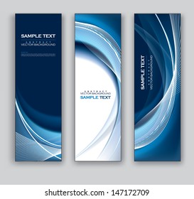 Abstract Banners. Vector Illustration.