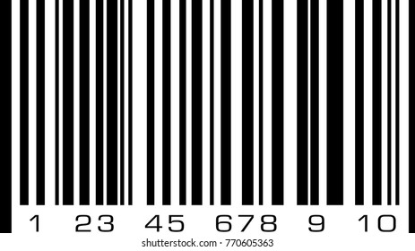 Abstract bar code, barcode vector icon illustration