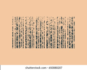 Abstract bar code concept. Grunge cracked texture