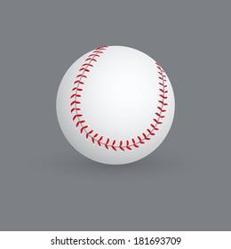 abstract baseball ball on a gray background