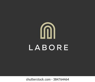 Abstract basis letter A business logo design template. Premium real estate finance idea sign. Universal line arch, apartment, house, home vector icon