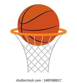 abstract basketball ball and basket on a white background, vector illustration design