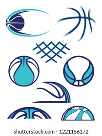 Abstract Basketball Shapes and Graphics