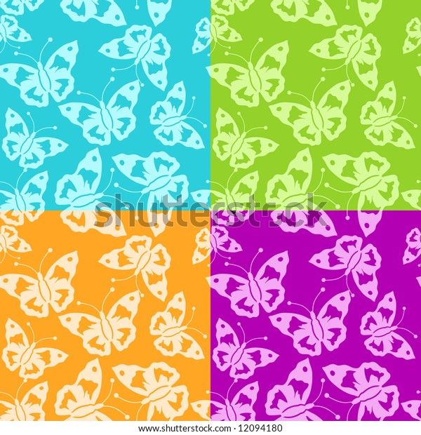 Abstract batterfly pattern seamless