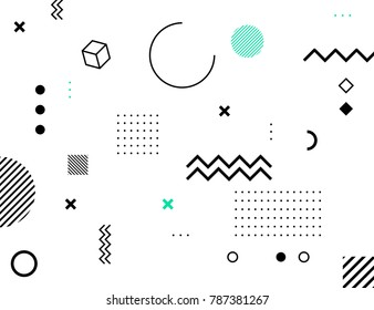 Abstract bauhaus background. Vector geometry shape.