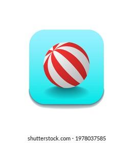 Abstract Beach Play Ball Icon Vector Design Style