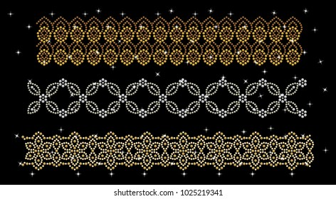 Abstract beautiful applique rhinestones,Rhinestone Applique pattern,Fashion hijab, Muslim garment.