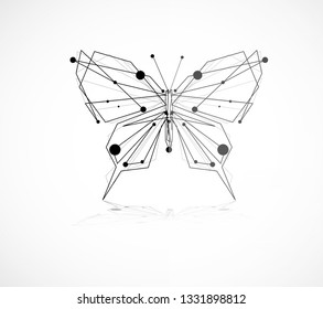 Abstract beautiful butterfly