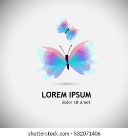 abstract beautiful butterfly object. Vector