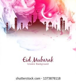 Abstract beautiful Eid Mubarak Islamic background vector
