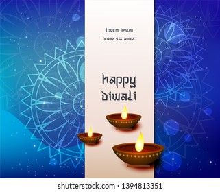 Abstract beautiful Happy Diwali background - Shutterstock ID 1394813351