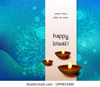 Abstract beautiful Happy Diwali background - Shutterstock ID 1394813360