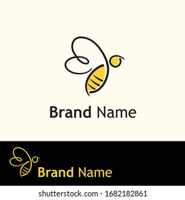 abstract bee logo concept vector illustration
