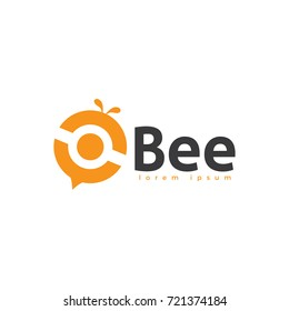 abstract bee logo design template. bee logo icon