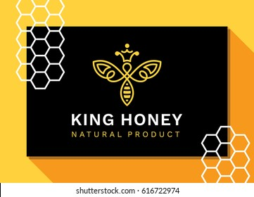 Abstract bee - logo, icon, illustration