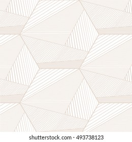 Abstract beige lines background hexagon. Hexagon background. Vector illustration.