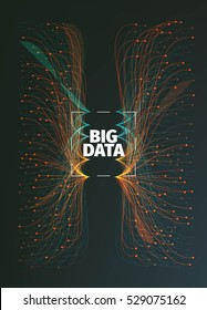Abstract big data illustration. Information streams