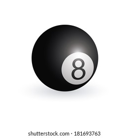 abstract billiards ball on a white background