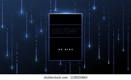 Abstract binary code technology background for application programming development design. Eps10 vector illustration