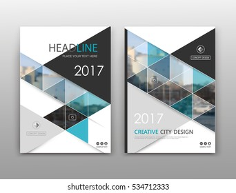 Abstract binder layout. White a4 brochure cover design. Fancy info text frame. Creative ad flyer font. Title sheet model set. Modern vector front page. City view banner. Blue figure mosaic icon fiber