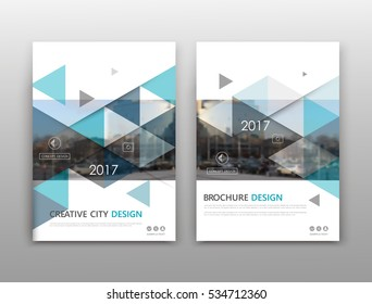 Abstract binder layout. White a4 brochure cover design. Fancy info text frame. Creative ad flyer font. Title sheet model set. Modern vector front page. City view banner. Blue figures mosaic icon fiber