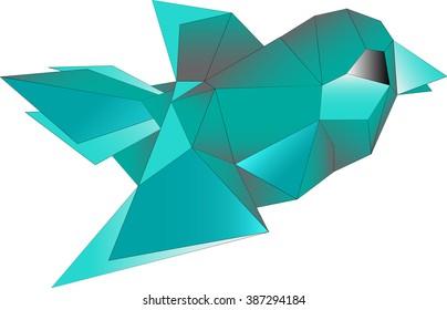 Abstract bird, eps 10