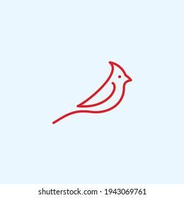 abstract bird logo. cardinal icon